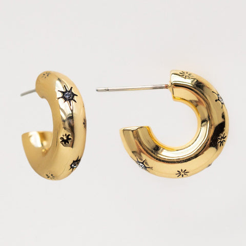 mini celestial chunky hoops