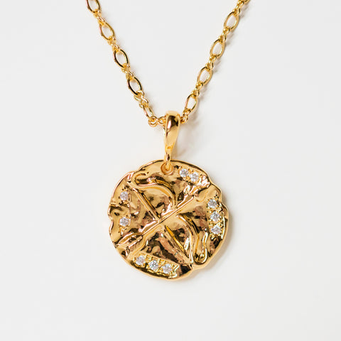 olympia yellow gold necklace pendant arrow jewelry