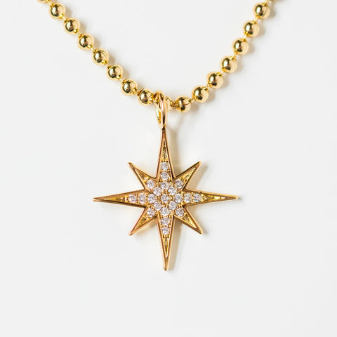 rayna necklace yellow gold unique star jewelry