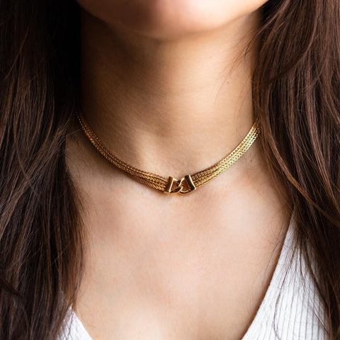 Gemma Interlock Choker Necklace
