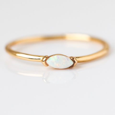 Anya Ring with Opal - rings - Five and Two local eclectic