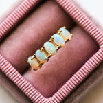 Five Oval Opal Ring in Yellow Gold - rings - LUMO local eclectic