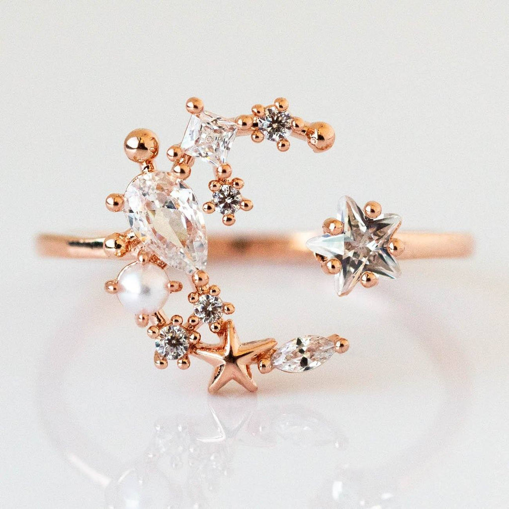 Local Eclectic Girls Crew Moon Rose Gold Ring