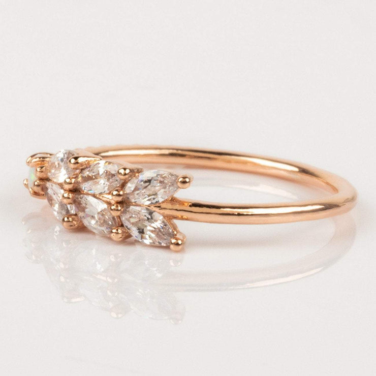 Girls Crew Rose Gold Opal CZ dainty ring