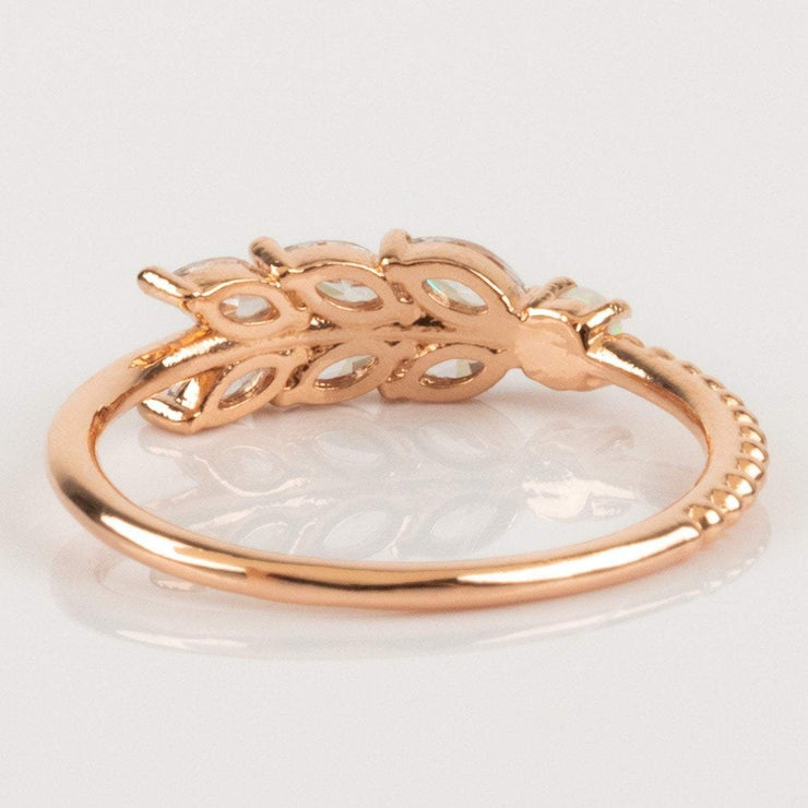 Girls Crew Rose Gold Ring Honey Dew Opal