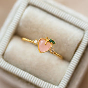perfect peach ring dainty yellow gold fruit inspired jewelry