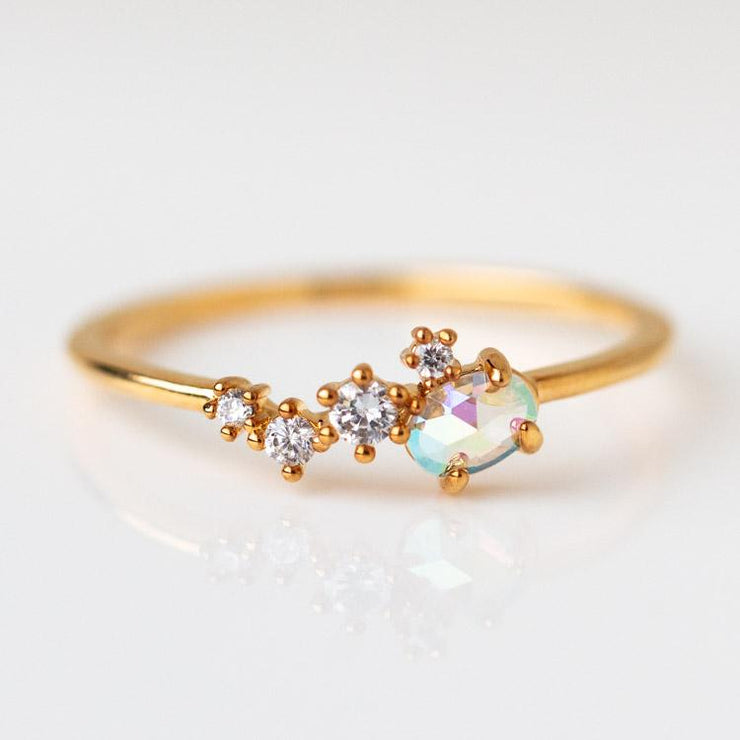 Golden Hour Ring dainty yellow gold jewelry girls crew