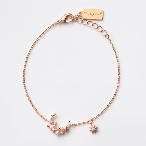 Dainty Moonlight Bracelet in Rose Gold