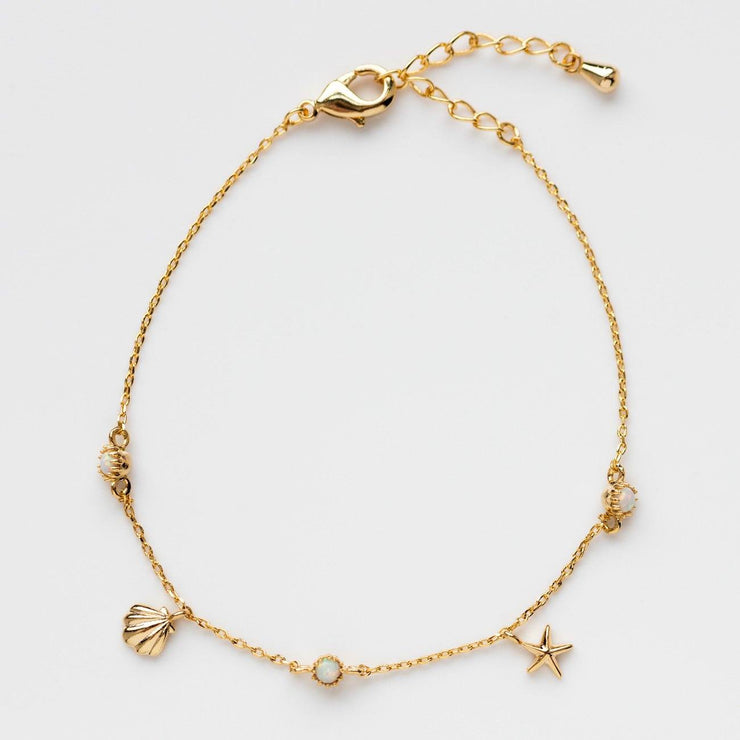 Opal Ocean Bracelet Girls Crew Seashell Star Charms