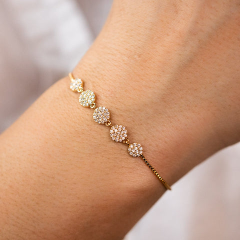 Yellow Gold Round Sparkler Bracelet Fun Jewelry