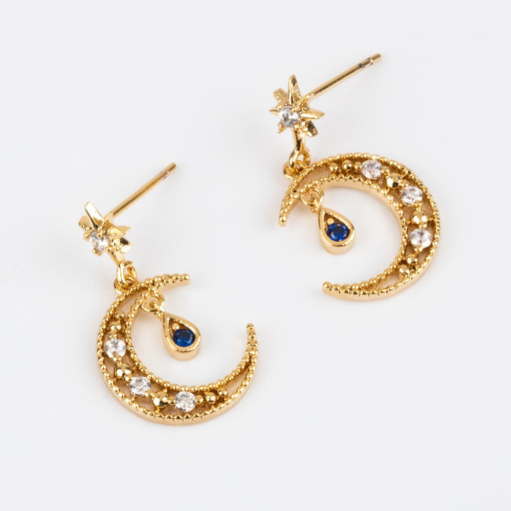 Girls Crew Moon Earrings Dangling Studs