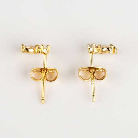 Mila Post Earrings in Yellow Gold - earrings - Girls Crew local eclectic