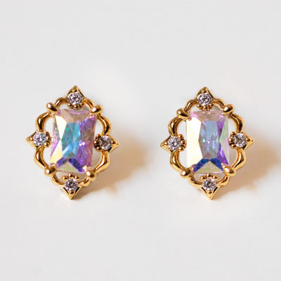 crown jewels studs statement stud earrings yellow gold jewelry