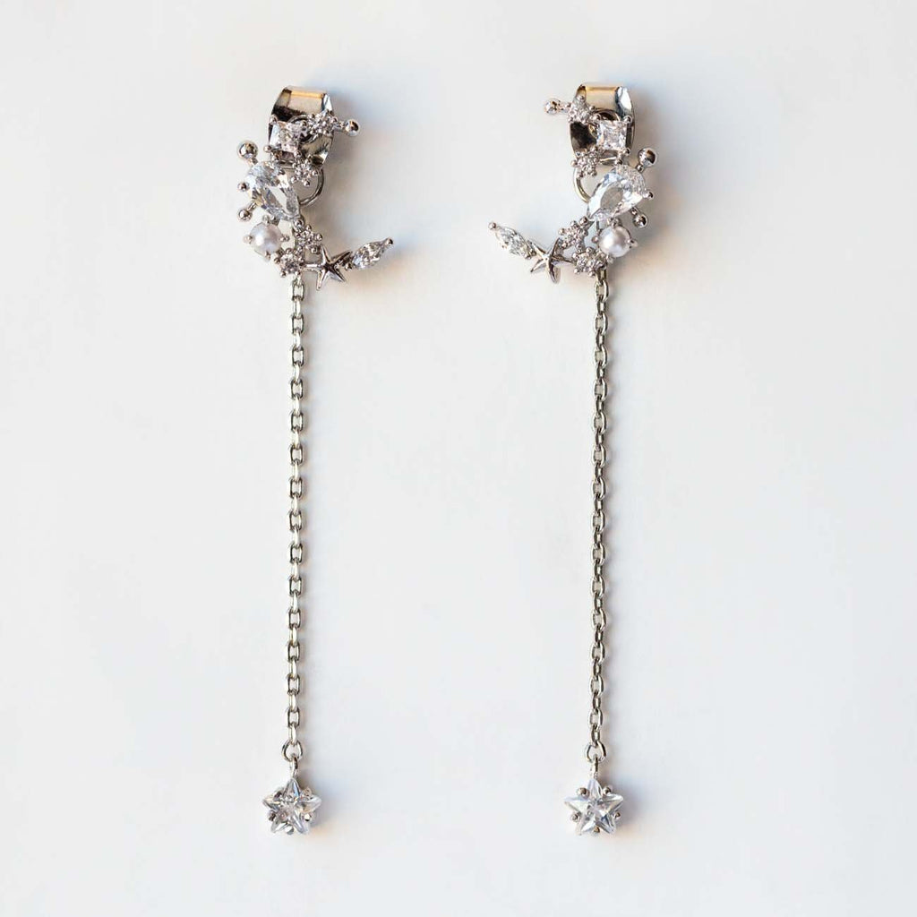 Moonlight Dangle Earrings in Silver