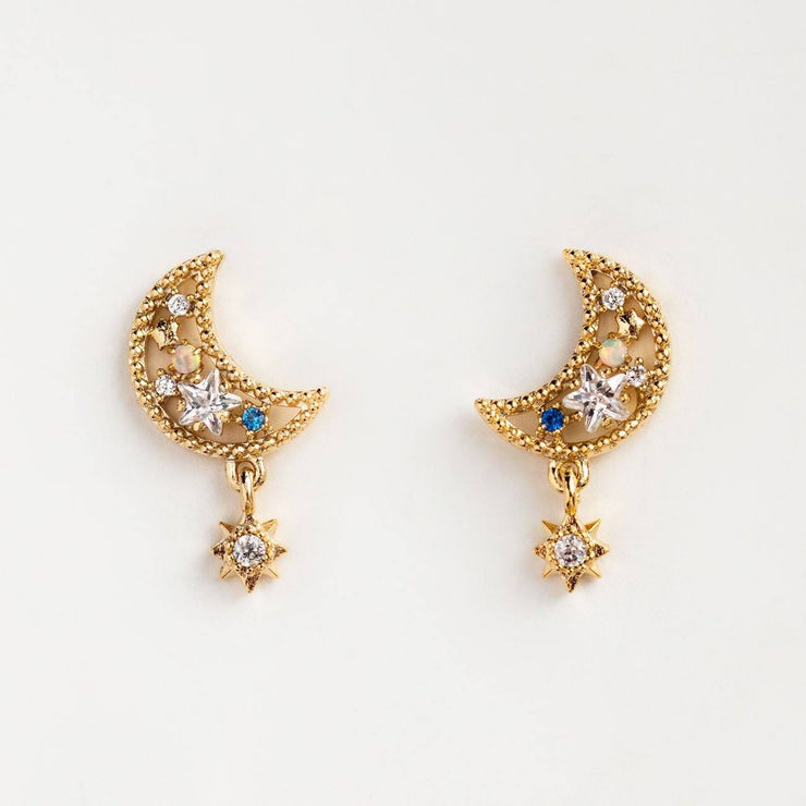 Local Eclectic Luna 18K Yellow Gold Plated Earrings