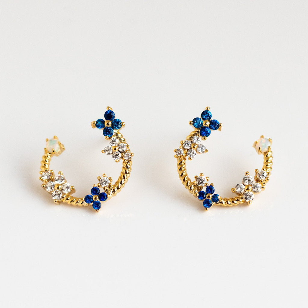Local Eclectic Fleurette 18K Gold Plated Earrings