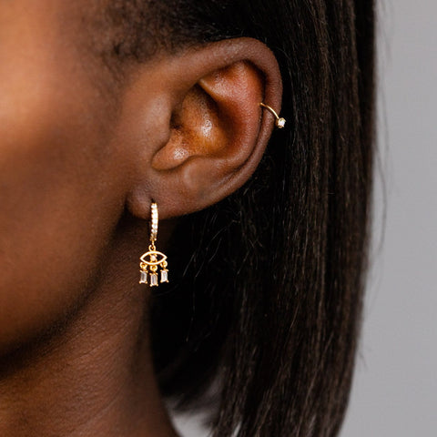 Local Eclectic - Tiny Opal 18K Gold Plated Ear Cuff - Girl's Crew