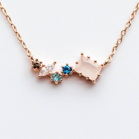 Kota Necklace in Rose Gold - necklaces - Girls Crew local eclectic