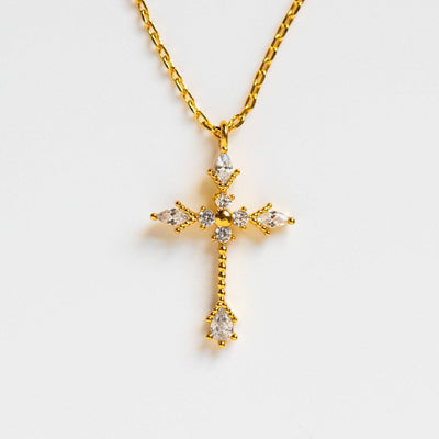 sunday service cross necklace yellow gold jewelry