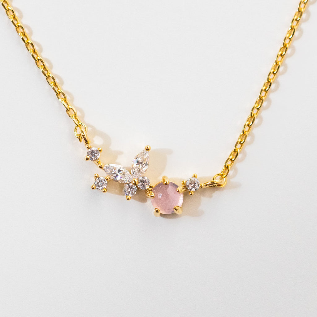 winging it necklace butterfly cz dainty yellow gold jewelry