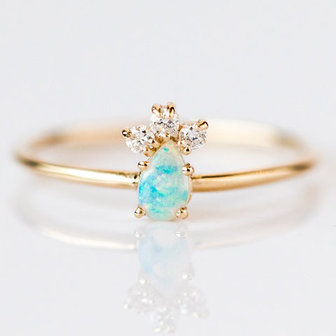Grace Opal & Diamond Ring - rings - LUMO local eclectic