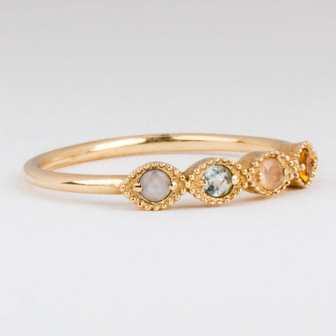 Pastel Earth Fire Water Wind Ring - rings - I Like it Here Club local eclectic