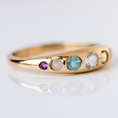 She's an Artist Ring in Yellow Gold - rings - I Like it Here Club local eclectic