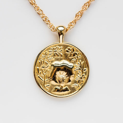 Anywhere, Anywhere Medallion in Brass - necklaces - I Like it Here Club local eclectic