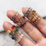 June Ombré Birthstone Ring - rings - Tai Jewelry local eclectic