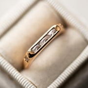 Amore Baguette Ring yellow gold dainty minimal modern jewelry