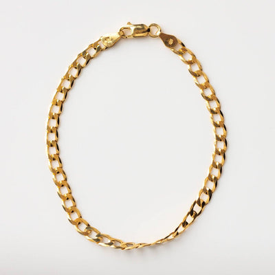 The Curb Link Bracelet modern yellow gold minimal jewelry