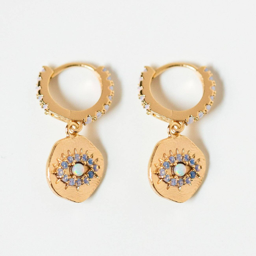 Daydreamer Huggie Earrings in Opal