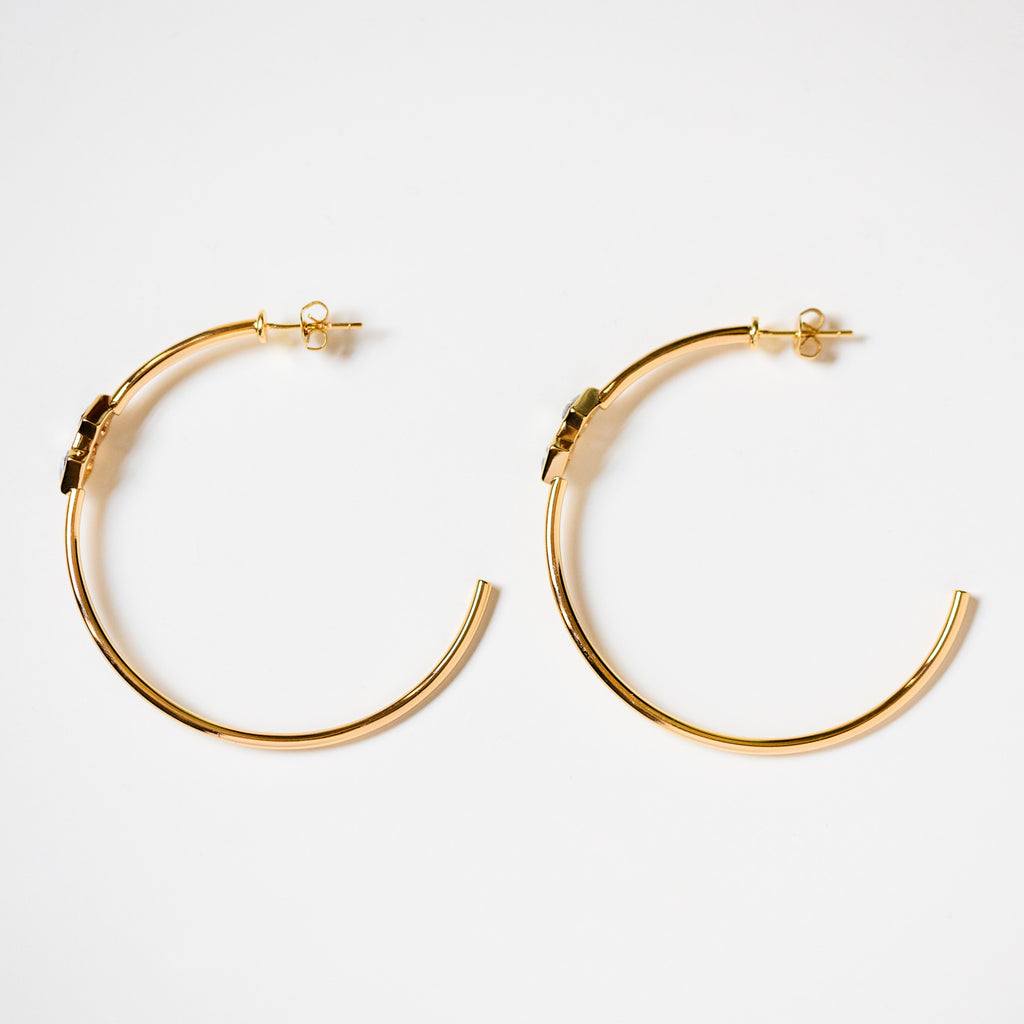 indio hoop earrings in aquamarine unique yellow gold hoops