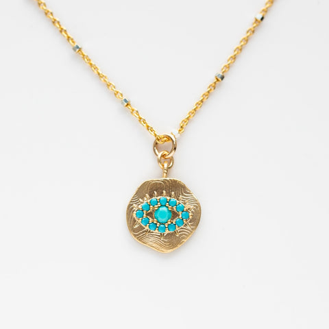 Local Eclectic - Gold Filled Evil Eye Necklace - Joy Dravecky