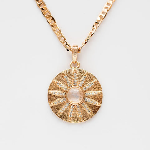 Local Eclectic - Gold Filled Stargazer Moonstone Necklace - Joy Dravecky