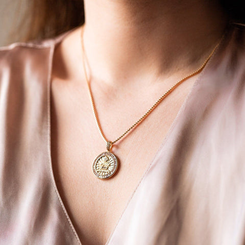 loyalty pendant necklace unique yellow gold jewelry