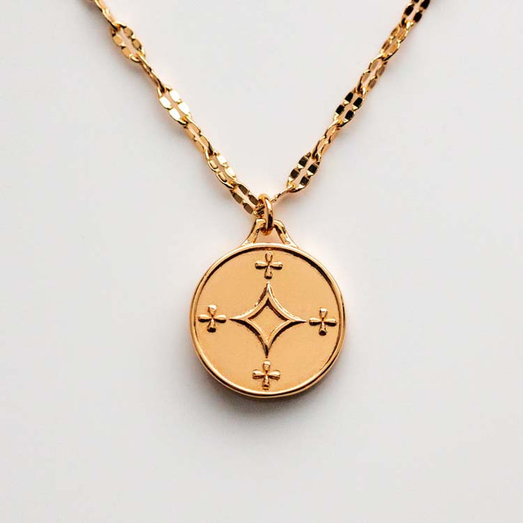 Free Spirit Coin Pendant Necklace modern minimal religious jewelry