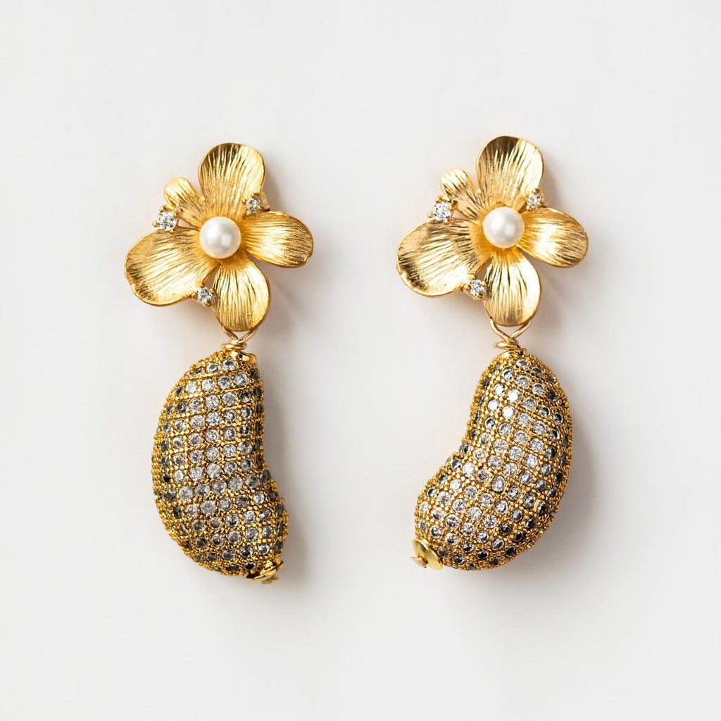 Coco Pave Flower Earrings