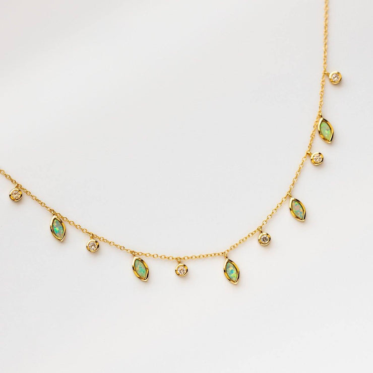 Drops of Spring Opal Necklace necklaces Kamaria