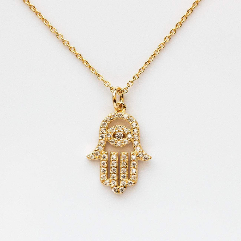 Diamond Hamsa Necklace