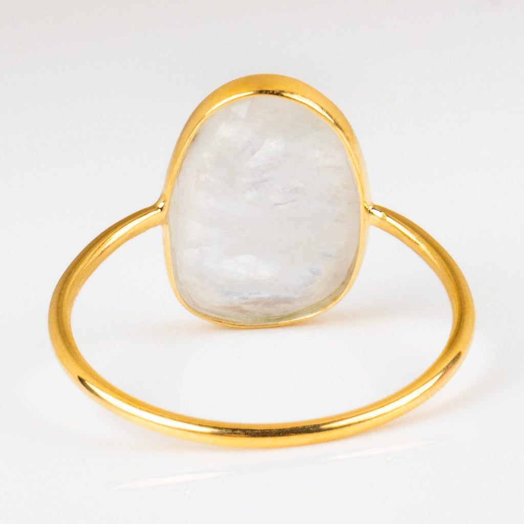 selena slice moonstone ring dainty yellow gold jewelry