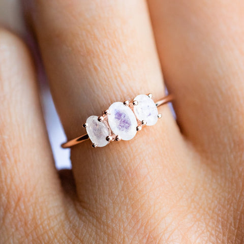 Moonstone Bijou Ring in Rose Gold