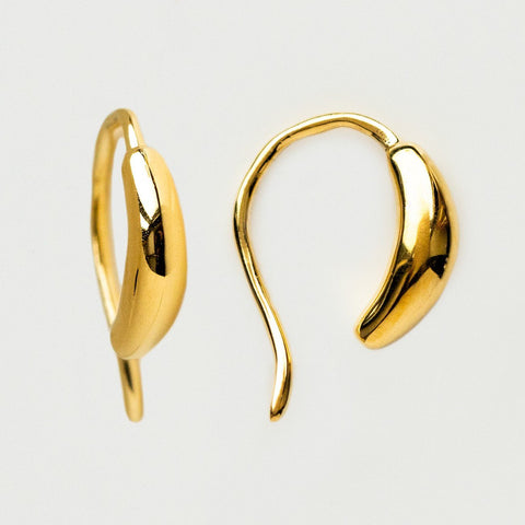 ear ring unique huggie yellow gold jewelry