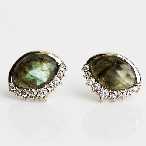 Anni Labradorite Studs - earrings - Leah Alexandra local eclectic