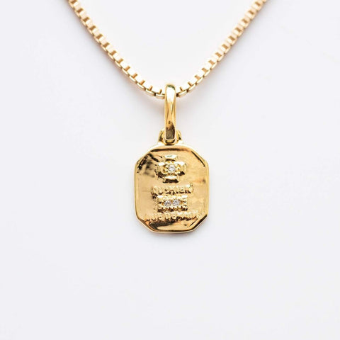 Gold French Love Pendant Necklace