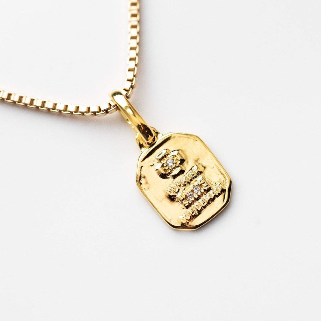 Dainty Gold Necklace Love Token Pendant