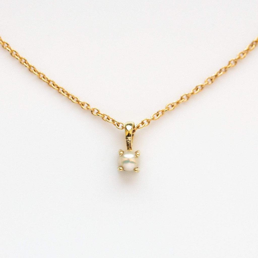 Pearl birthstone necklace, June birthstone necklace, Leah Alexandra