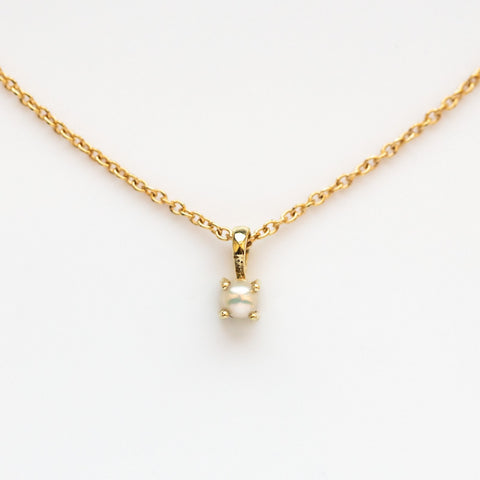 14K Gold Filled Element Necklace with Pearl