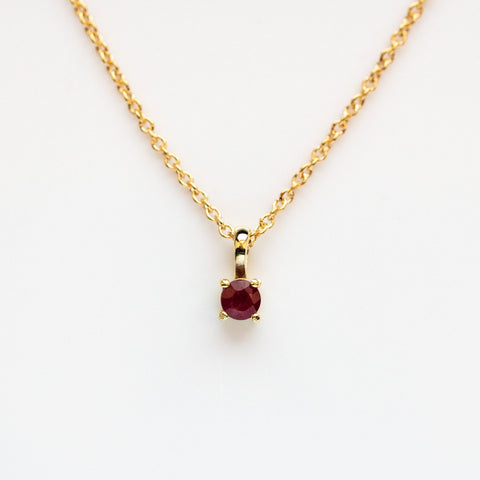 14K Gold Filled Element Necklace with Ruby