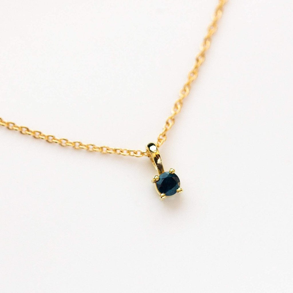 Sapphire birthstone necklace, September birthstone necklace, Leah Alexandra